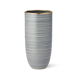 AERIN AERIN CALINDA TALL VASE IN SHADOW