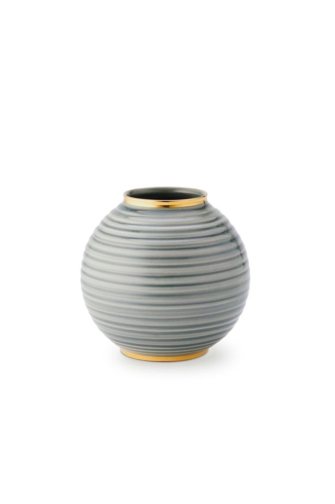 AERIN AERIN CALINDA ROUND VASE IN SHADOW
