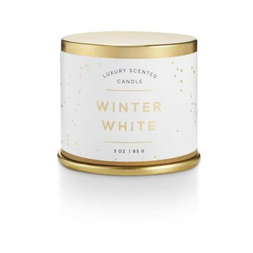illume candles ILL CASM - Noble Holiday Winter White Demi Tin Candle