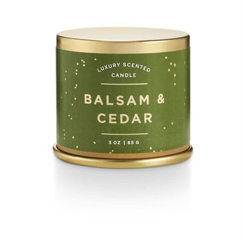 illume candles Noble Holiday Balsam and Cedar Tin Candle