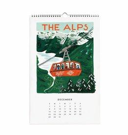 Rifle Paper Co. RPCAWA - 2019 World Traveler Wall Calendar