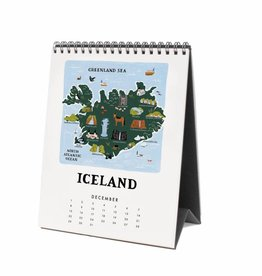 Rifle Paper Co. RPCADE - 2019 Maps of the World Desk Calendar