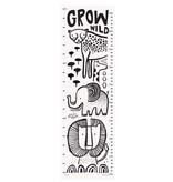 Wee Gallery WEGBA- Safari Grow Wild Canvas Growth Chart