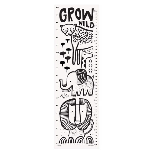 Wee Gallery WEG BA - Safari Grow Wild Canvas Growth Chart