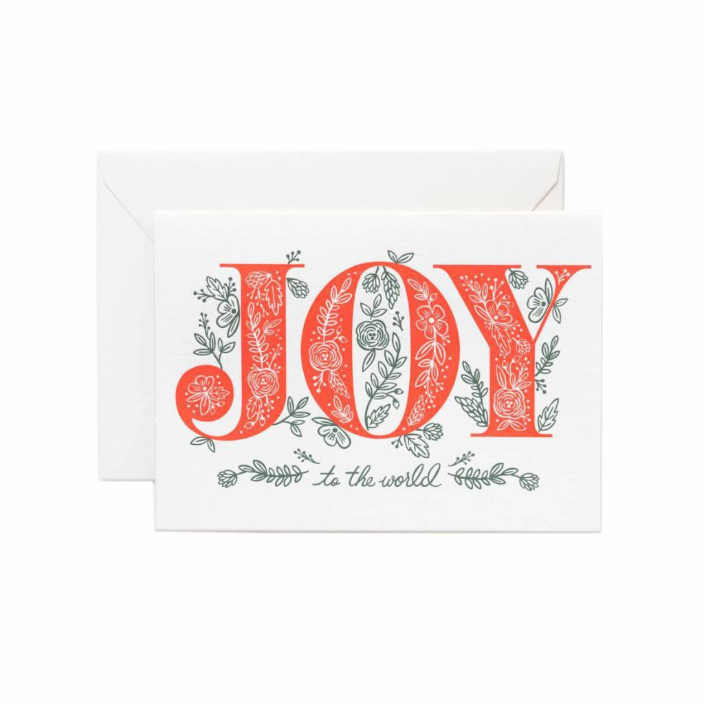 Rifle Paper Co - RP RPGCHO0042 - Joy to the World 4Bar