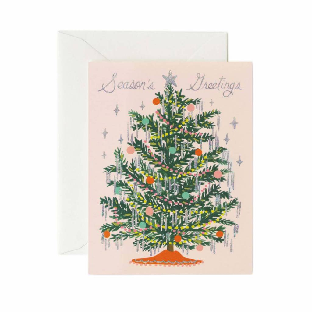 Rifle Paper Co - RP Tinsel Tree Greeting Card