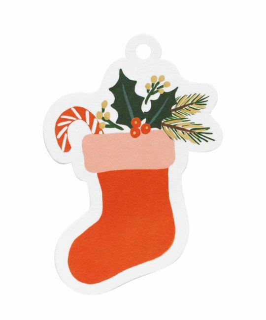Rifle Paper Co - RP Rifle Paper - Stocking Die Cut Gift Tags, set of 8