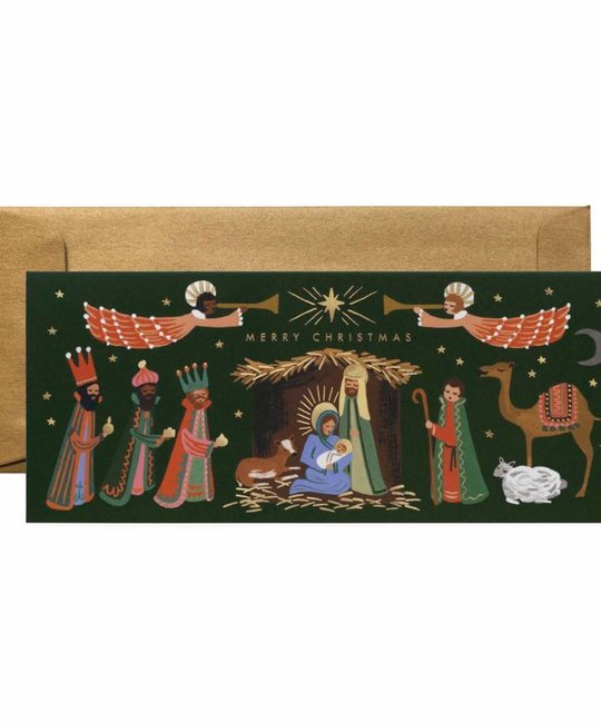 Rifle Paper Co - RP Rifle Paper - Holiday Nativity No. 10  Notes,  set of 8