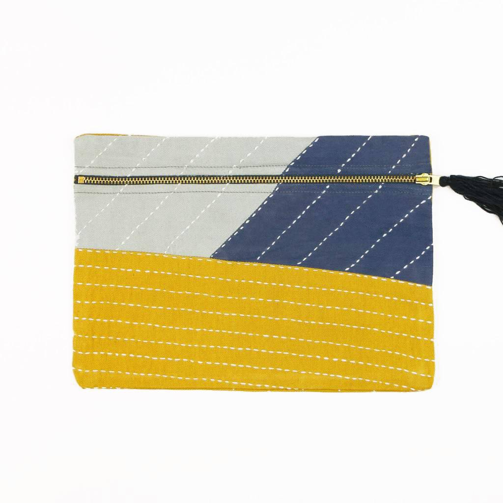 Anchal Project ANPBAME - Small Patchwork Asha Pouch
