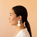 Dear Survivor White Mocu Earrings
