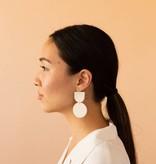 Dear Survivor White Mocu Earrings