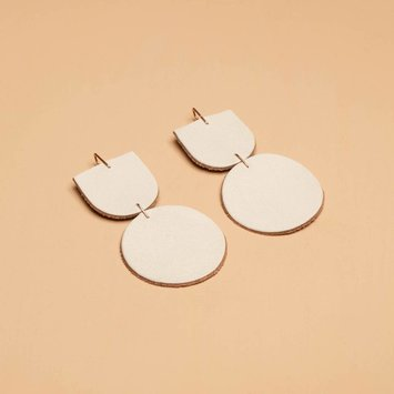 Dear Survivor - DS White Mocu Earrings