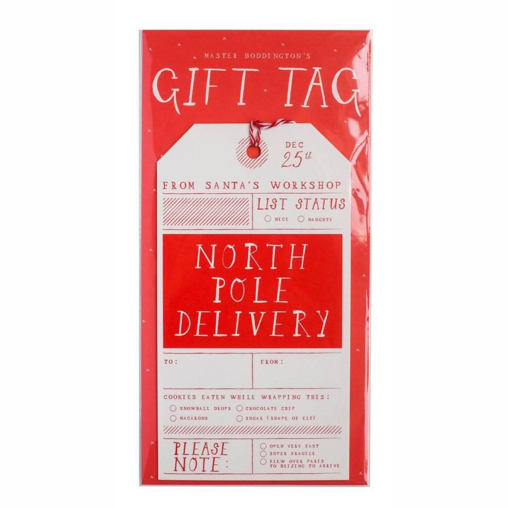Mr. Boddingtons Studio North Pole Delivery Gift Tag - Single