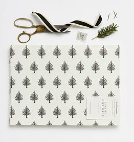 Katie Leamon KL WP HO - Christmas Trees B&W Wrap Sheet
