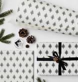 Katie Leamon Christmas Trees B&W Wrap Sheet