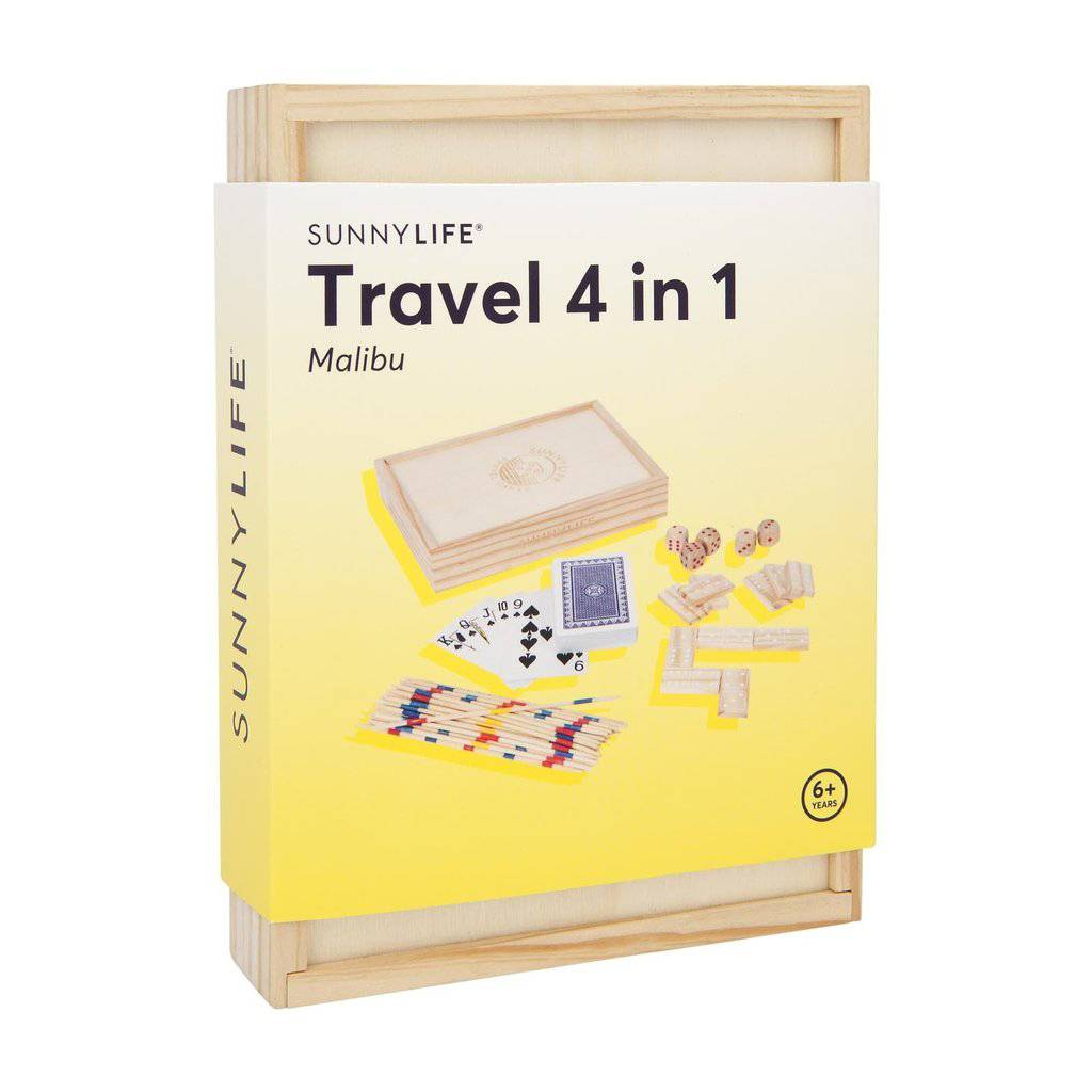 Sunnylife Travel 4 in 1 Malibu Game Set
