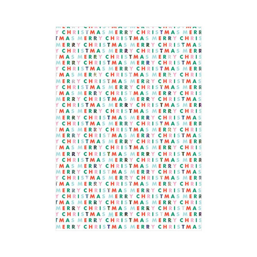 Meri Meri MEMWPROHO - Christmas Type Continuous Wrap Roll