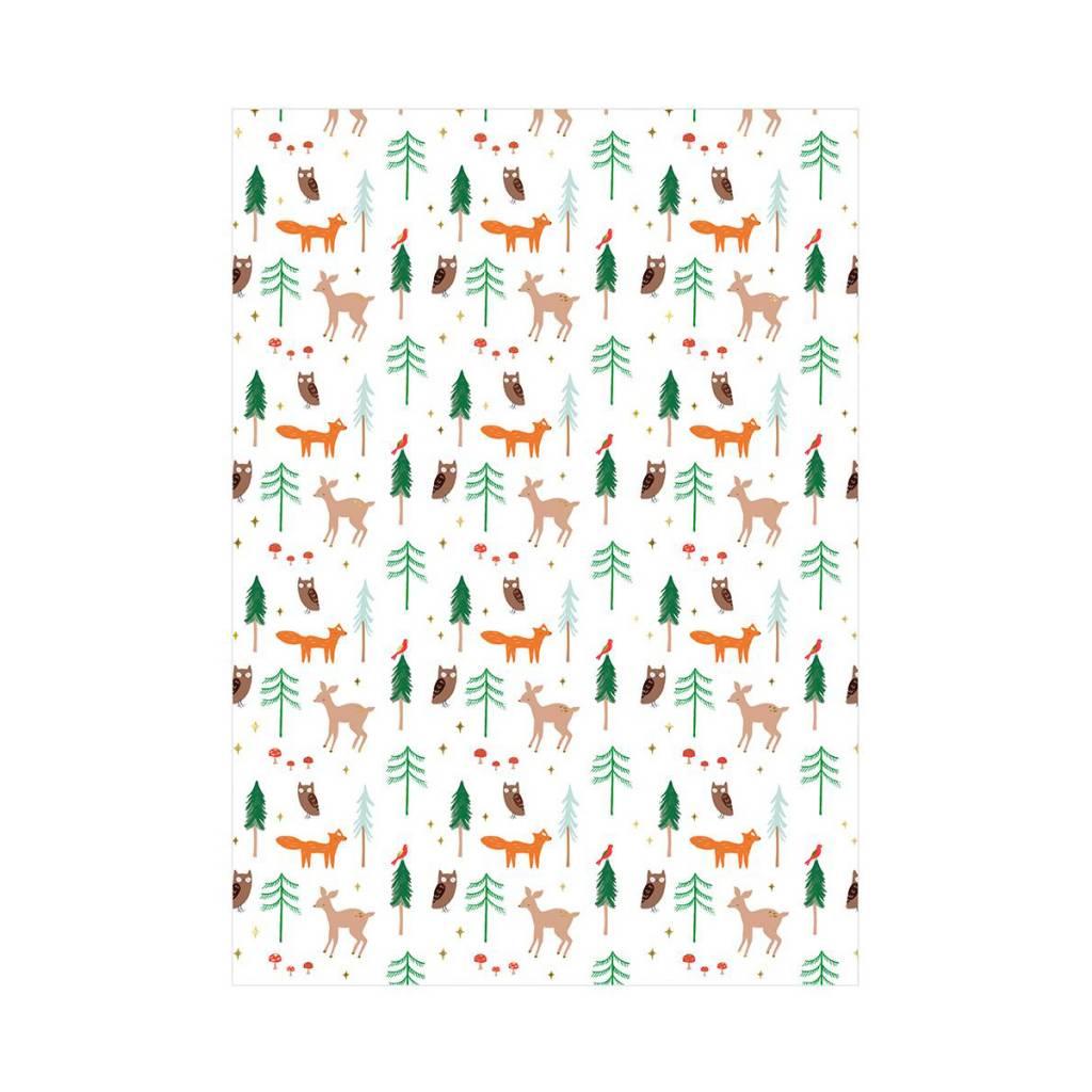 Meri Meri MEMWPROHO - Woodland Continuous Wrap Roll