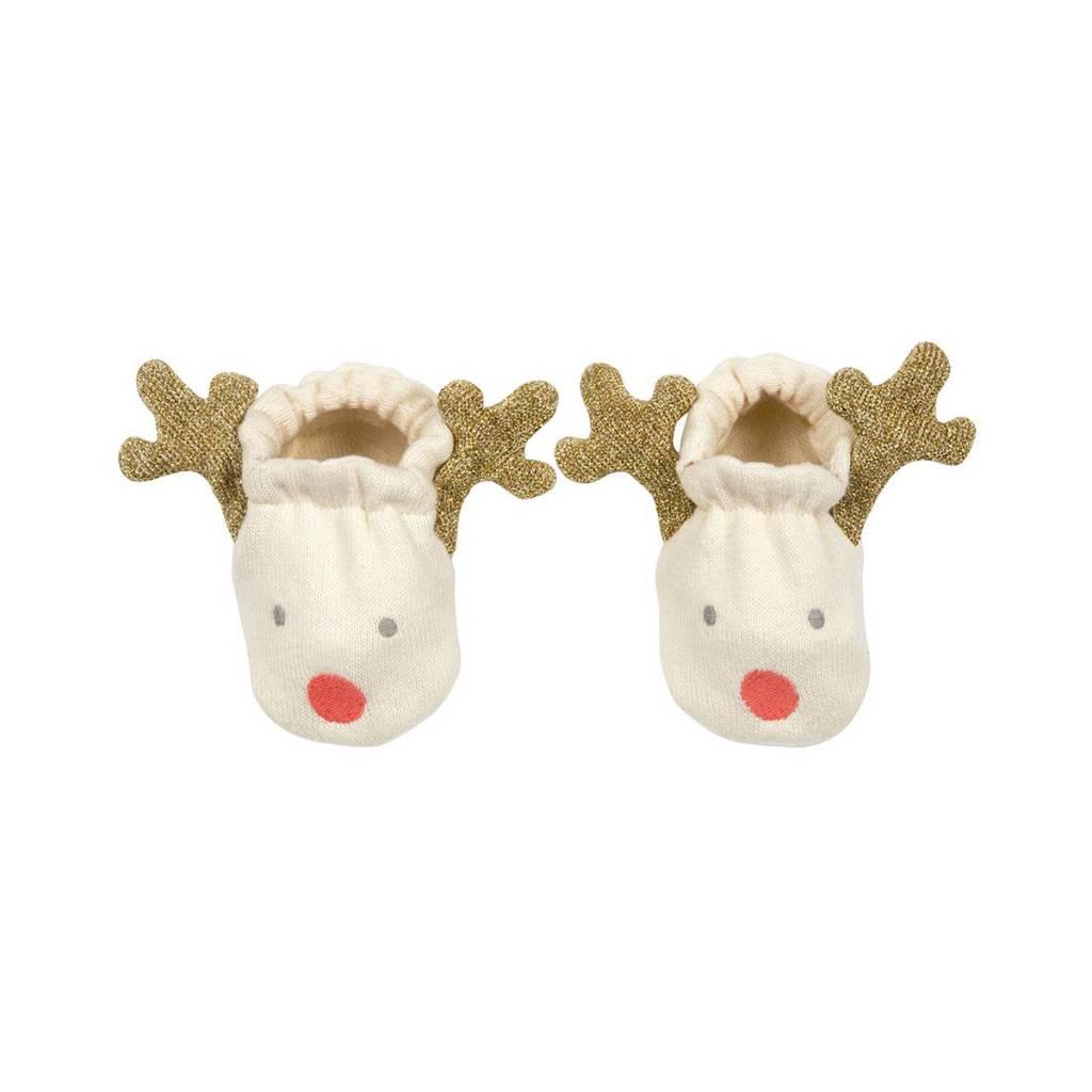 Meri Meri Organic Reindeer Baby Booties