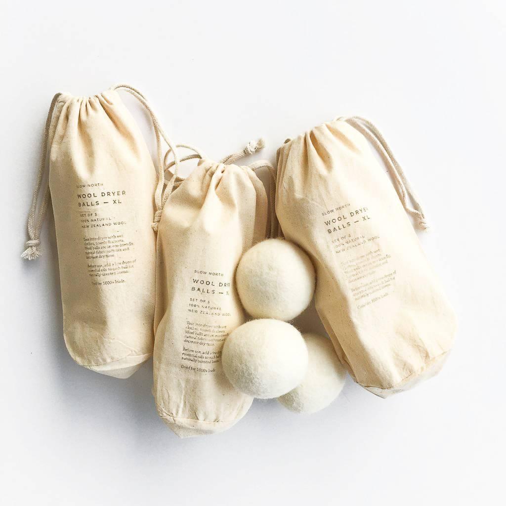 Slow North Set of 3 Wool Dryer Balls