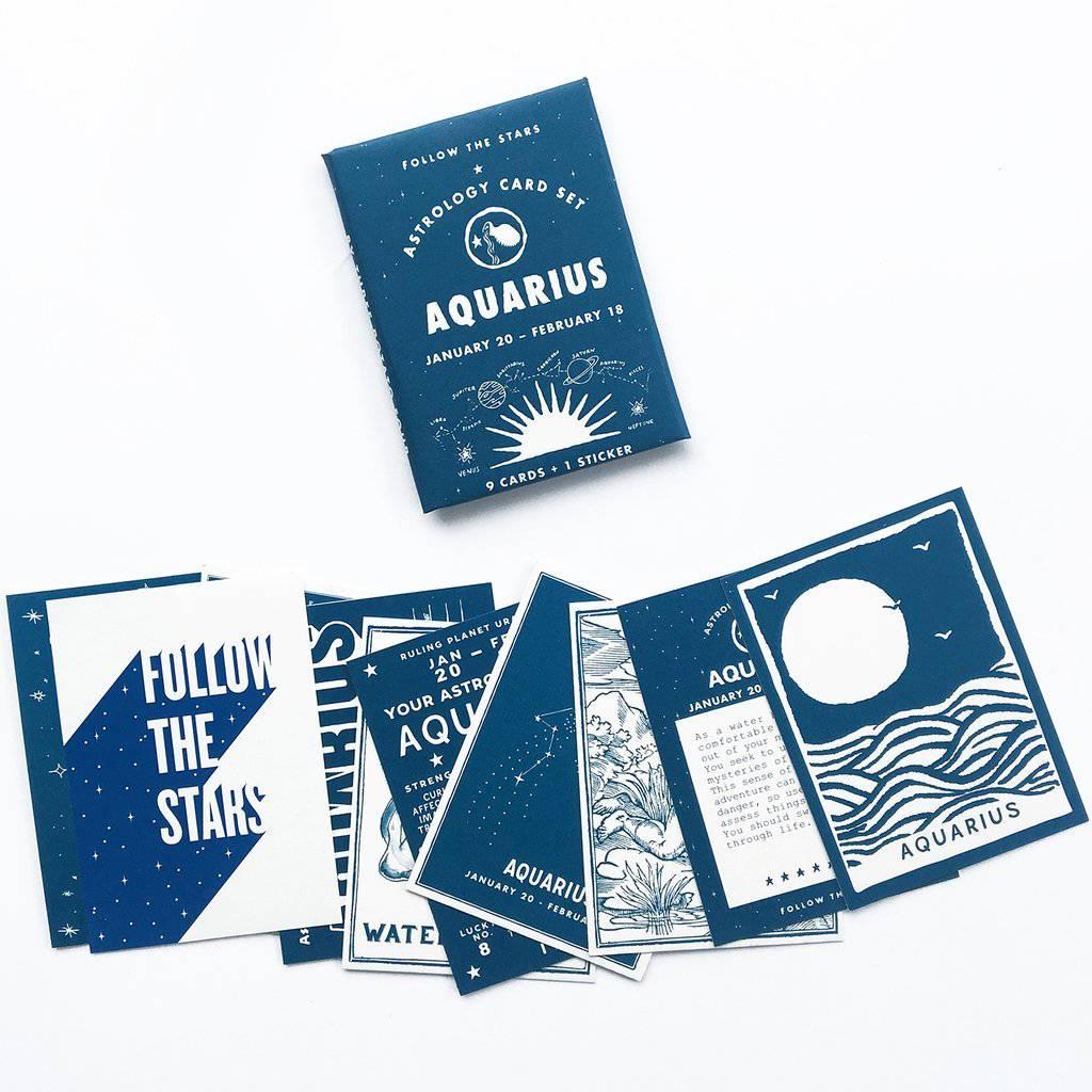3 potato 4 Astrology Card Pack - Aquarius