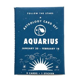 3 potato 4 Astrology Card Pack - Aquarius