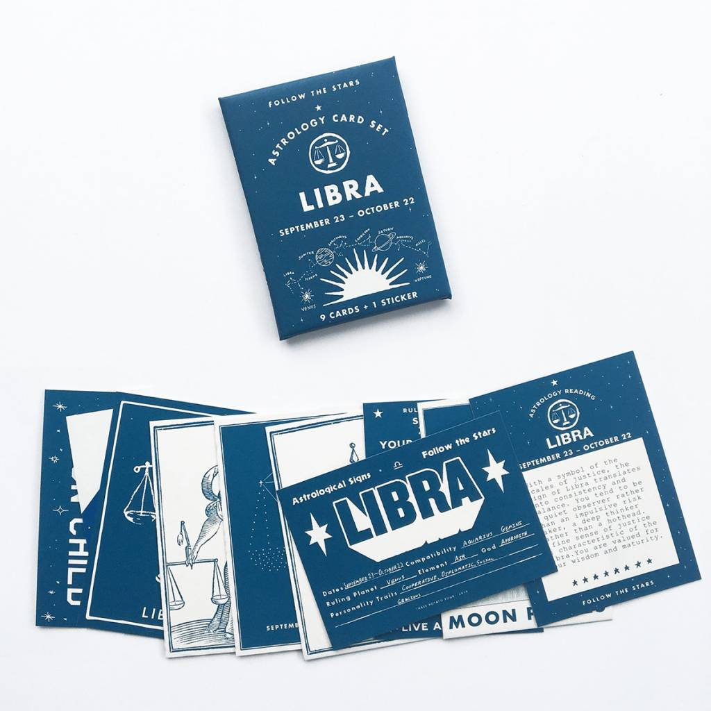 3 potato 4 Astrology Card Pack - Libra