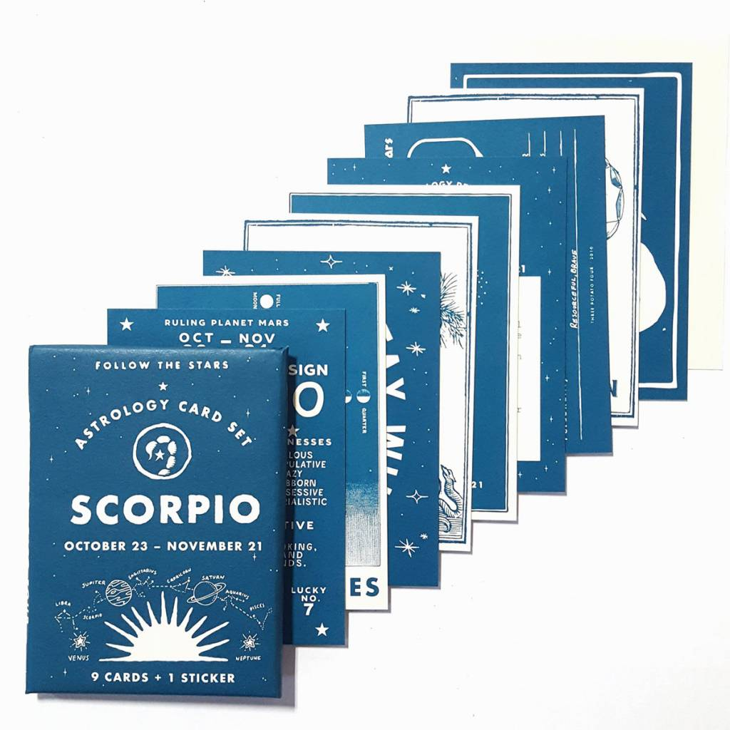 3 potato 4 Astrology Card Pack - Scorpio