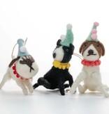Cody Foster Felt Party Dog Ornament