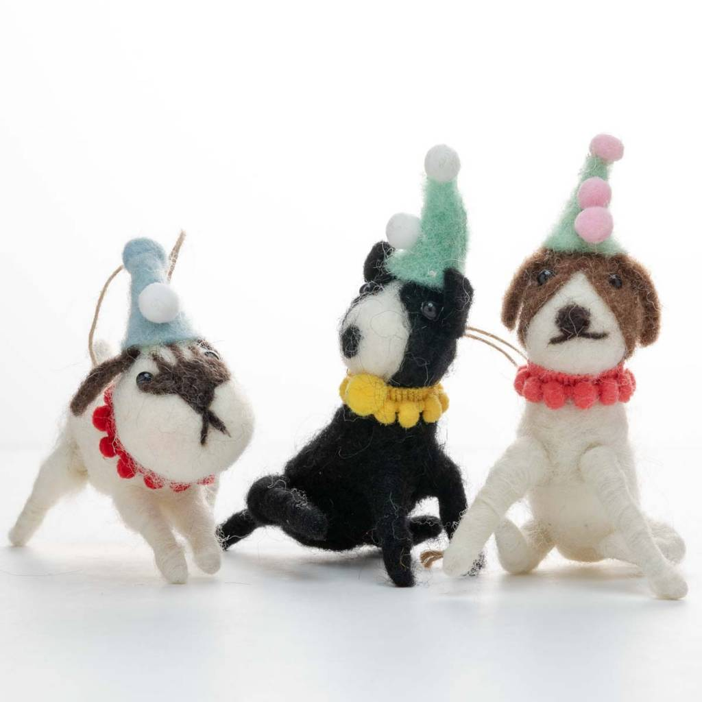 Cody Foster Felt Party Dog Ornament