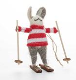 Cody Foster Woodland Skiing Rabbit Ornament