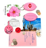 3 potato 4 Cents Coin Pouch Pink