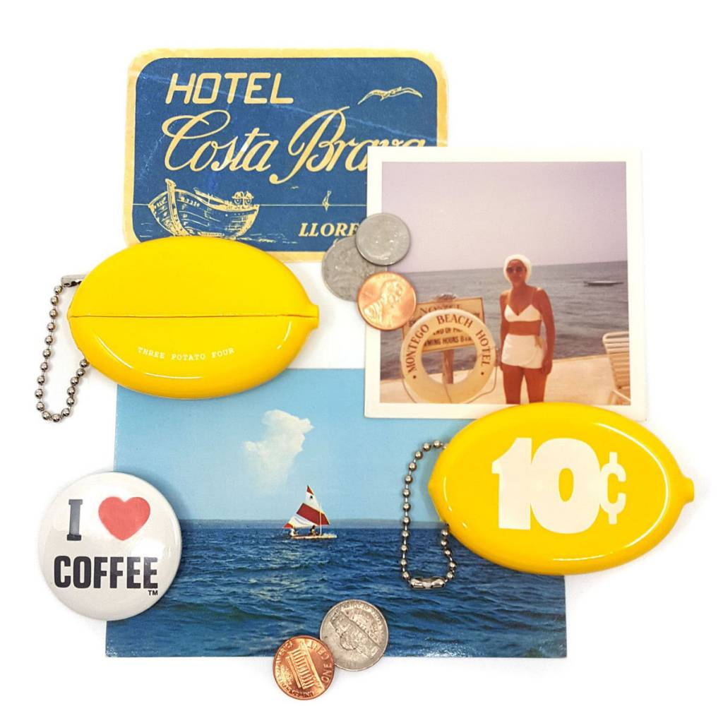 3 potato 4 10 Cents Coin Pouch Yellow