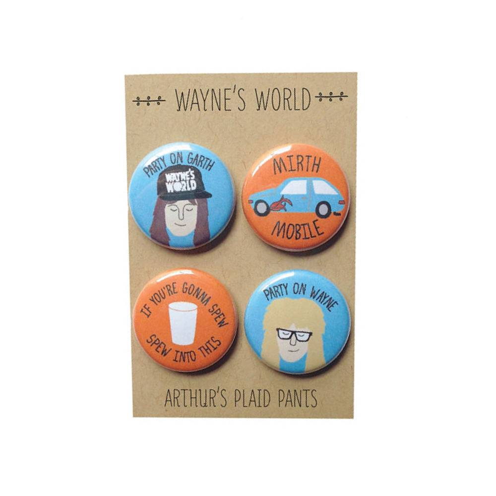 Arthurs Plaid Pants Waynes World 4pc Magnet set