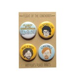 Arthurs Plaid Pants Flight of the Conchords 4pc Magnet set