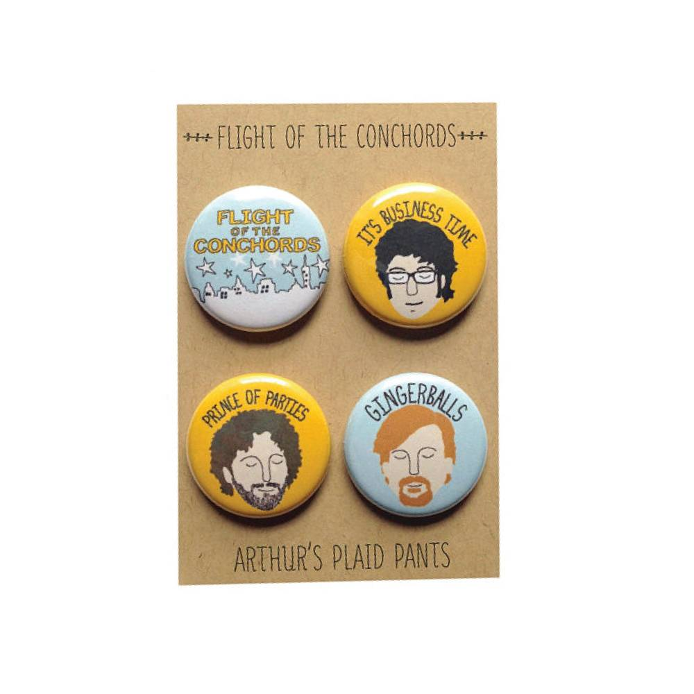 Arthurs Plaid Pants ARP LG - Flight of the Conchords 4pc Magnet set