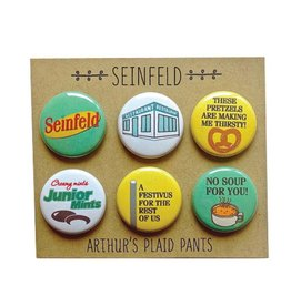 Arthurs Plaid Pants Seinfeld 6 pc Magnet set