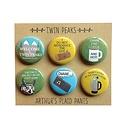 Arthurs Plaid Pants Twin Peaks 6pc Magnet set