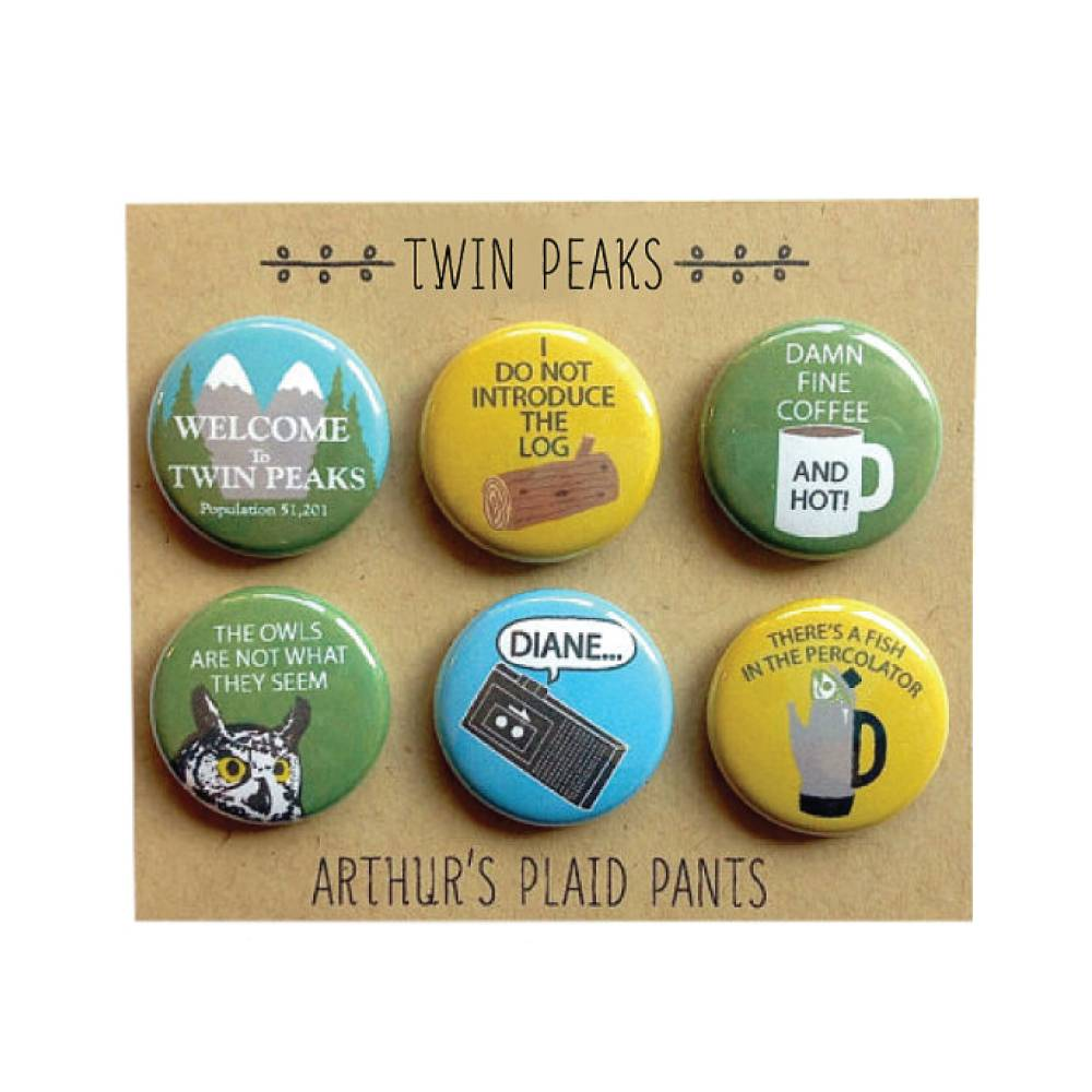 Arthurs Plaid Pants Twin Peaks 6pc Magnet set