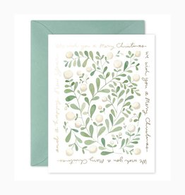 E. Frances Paper Studio Christmas Greens, Set of 6