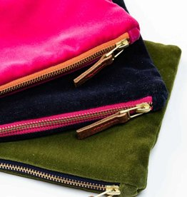 Erin Flett Velvet Clutch Bag by Erin Flett
