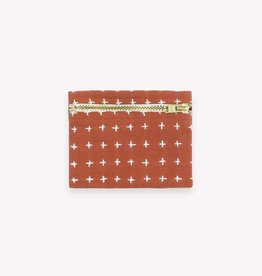 Anchal Project Rust Cross Stitch Coin Purse