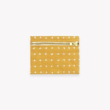 Anchal Project Gold Cross Stitch Coin Purse