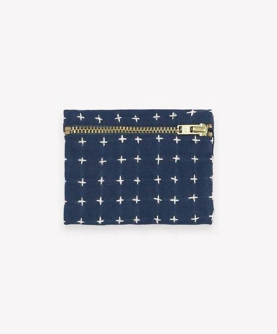 Anchal Project Navy Cross Stitch Coin Purse