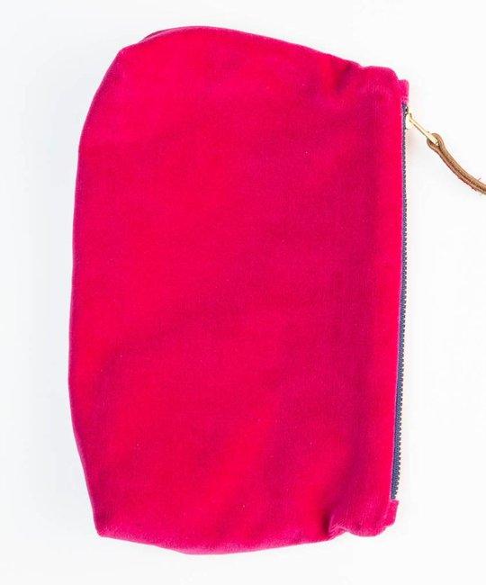 Erin Flett - ERF Velvet Makeup Bag by Erin Flett