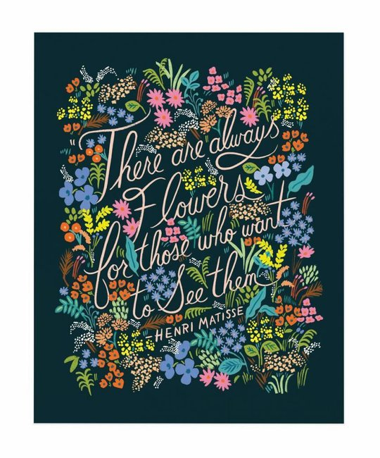 Rifle Paper Co - RP Matisse Quote Print, 16x20