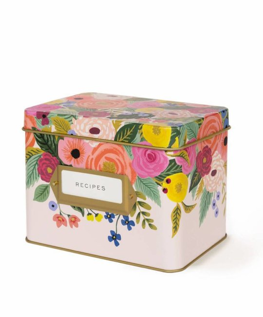 Rifle Paper Co - RP Juliet Rose Tin Recipe Box