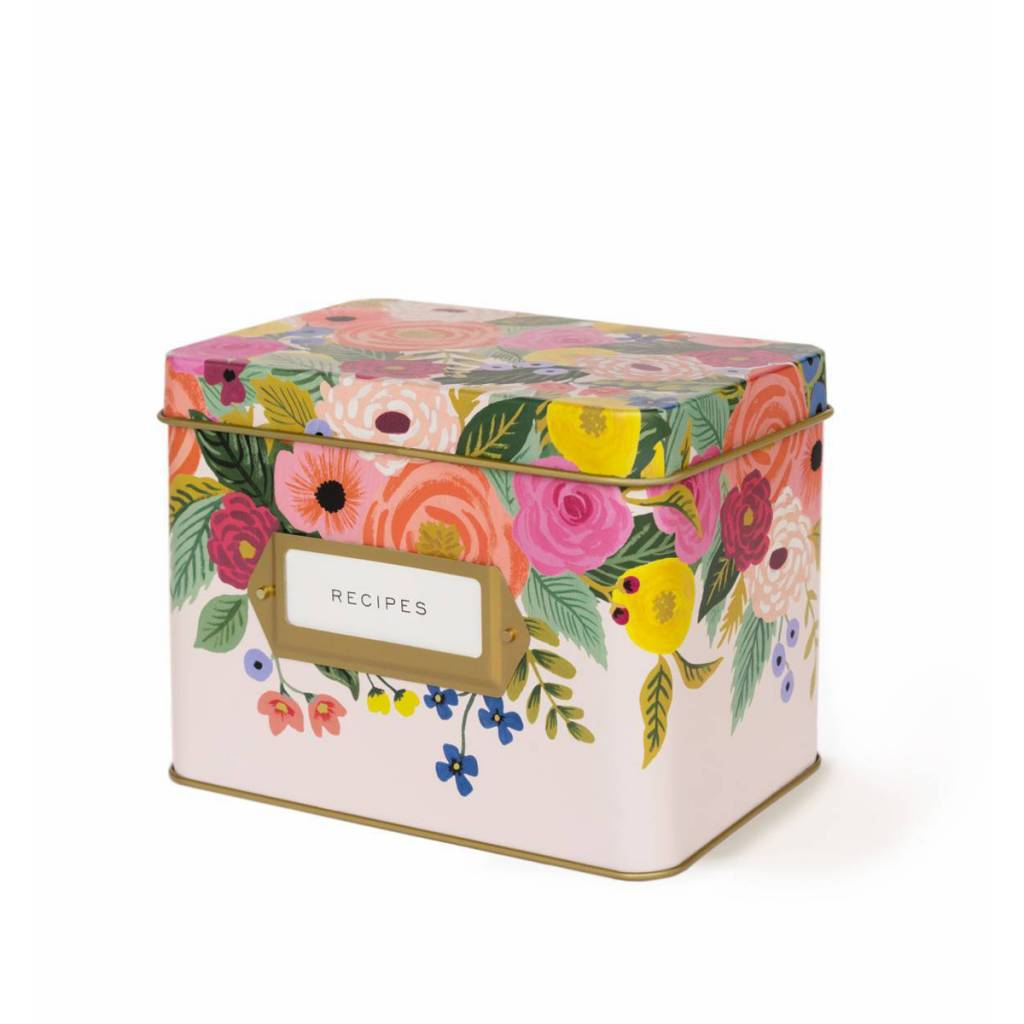 Rifle Paper Co. RP HG - Juliet Rose Tin Recipe Box