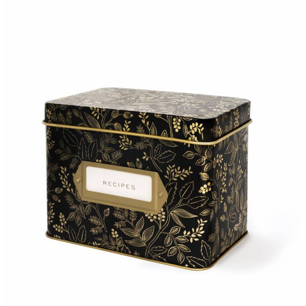 Rifle Paper Co. RPLG - Queen Anne Tin Recipe Box