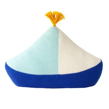Blabla Blue Boat Pillow